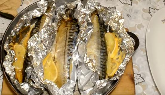 Как запечь скумбрию в фольге в духовке с фото с картошкой в фольге