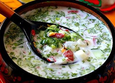окрошка рецепт классическая на квасе с майонезом