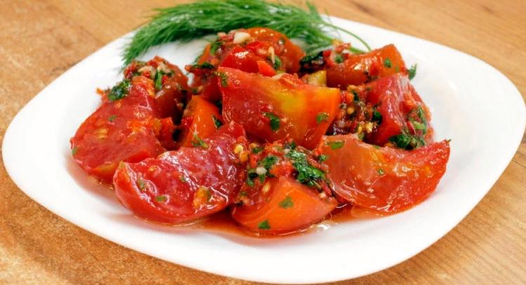 Помидоры по-корейски — Самые простые и очень вкусные рецепты быстрого приготовления