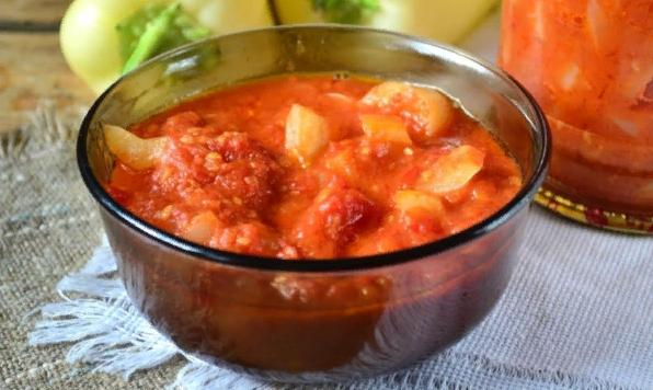 Лечо из болгарского перца с томатной пастой — Рецепты на зиму по домашнему