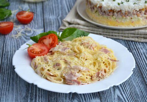 Паста карбонара с беконом и сливками: классический рецепт приготовления