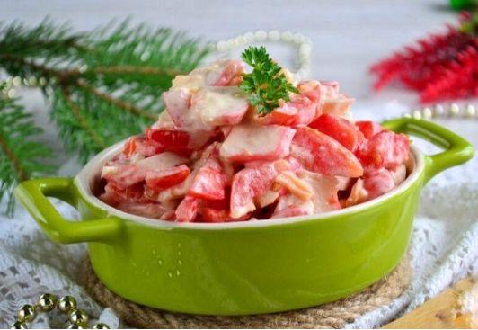 Салат с крабовыми палочками и помидорами: Очень вкусные рецепты
